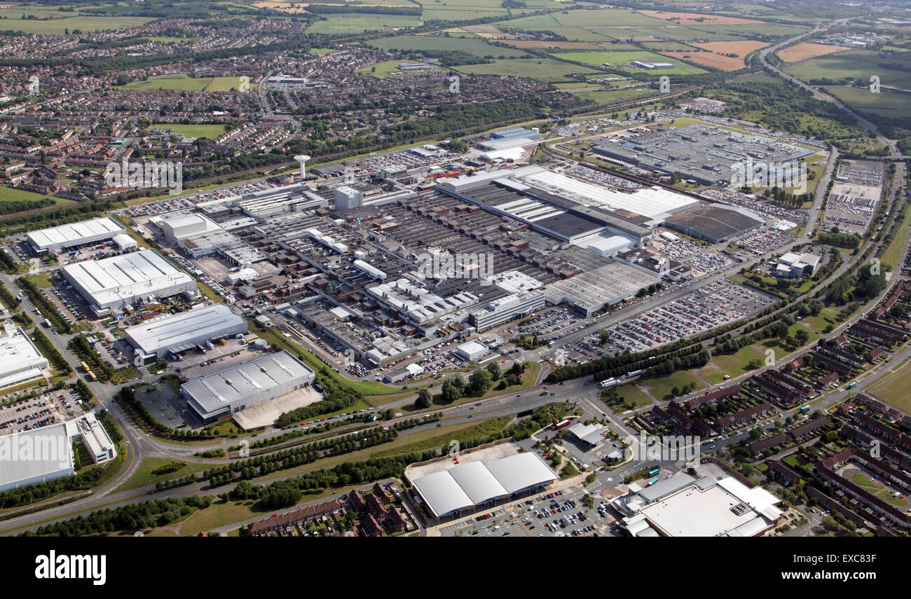 Aerial View Of The Jaguar Land Rover Car Manufacturing