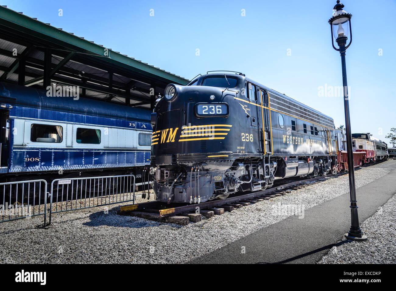 Western Maryland F7 A Unit No 236 Baltimore Ohio