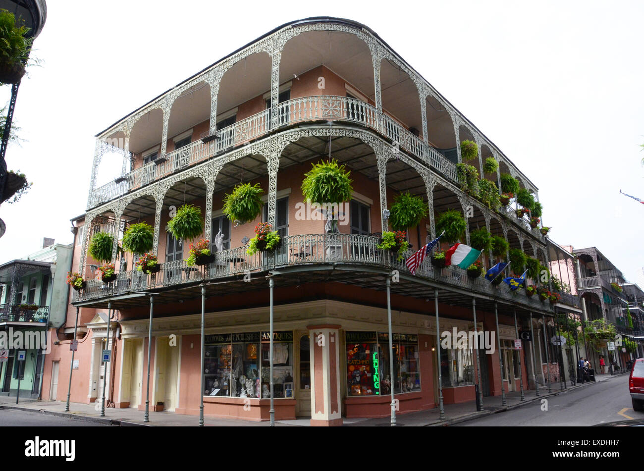 french quarter balcony french style buildings new orleans stock photo royalty free image. Black Bedroom Furniture Sets. Home Design Ideas