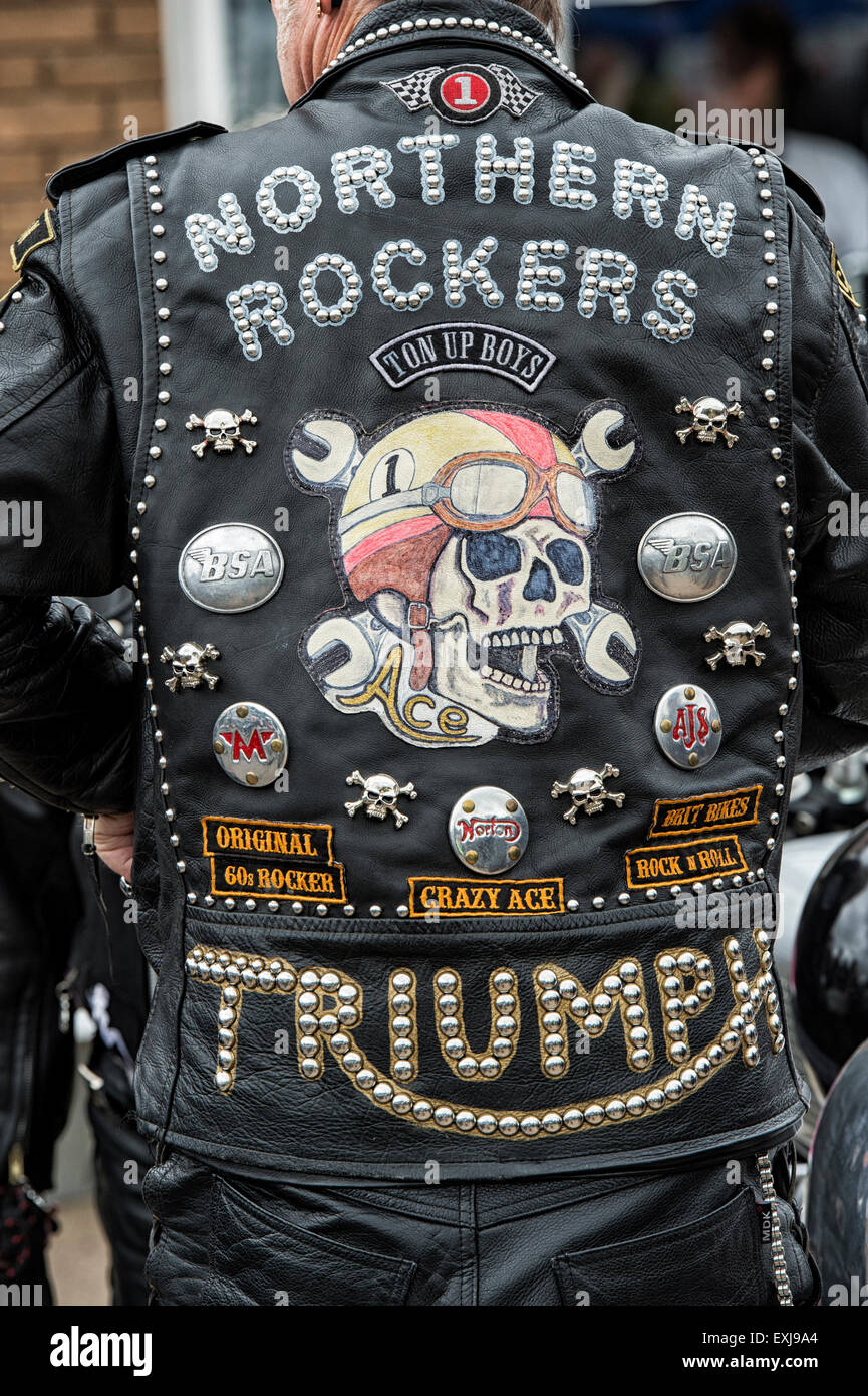 Leather jacket patches - Leather Jacket White Patches
