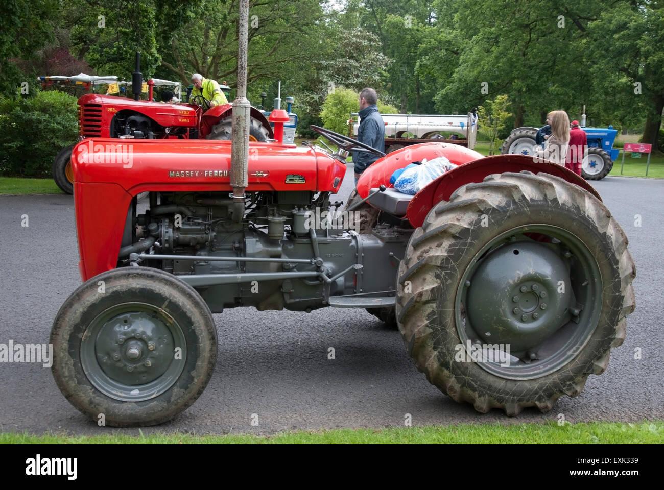 1961 Red Massey Ferguson 35 Model Farm Tractor Stock Photo
