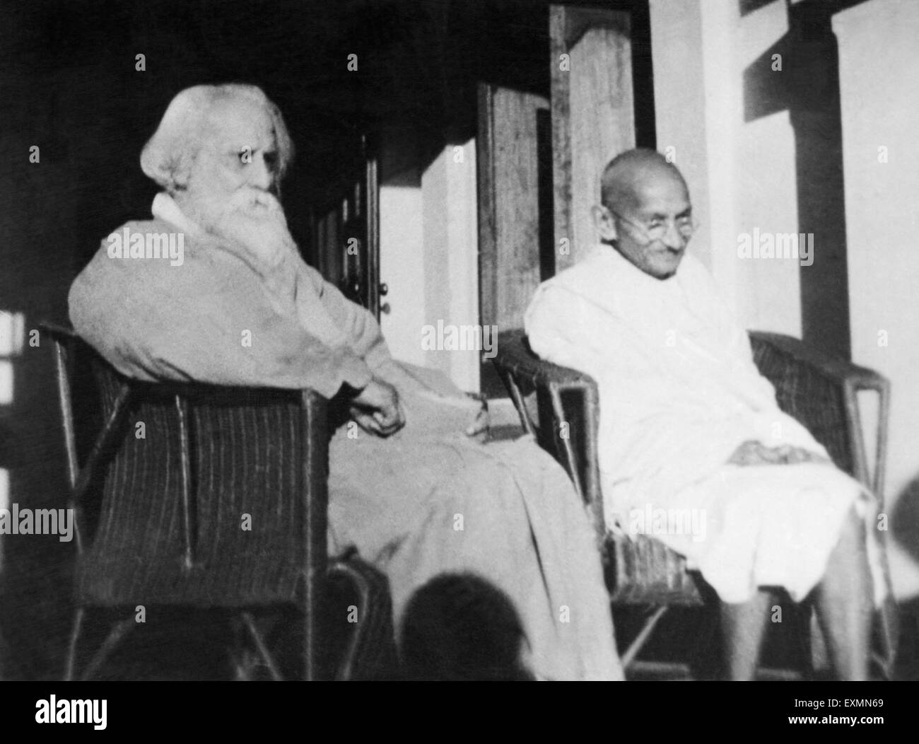 Mahatma gandhi and rabindranath tagore at shantiniketan for Shantiniketan tagore