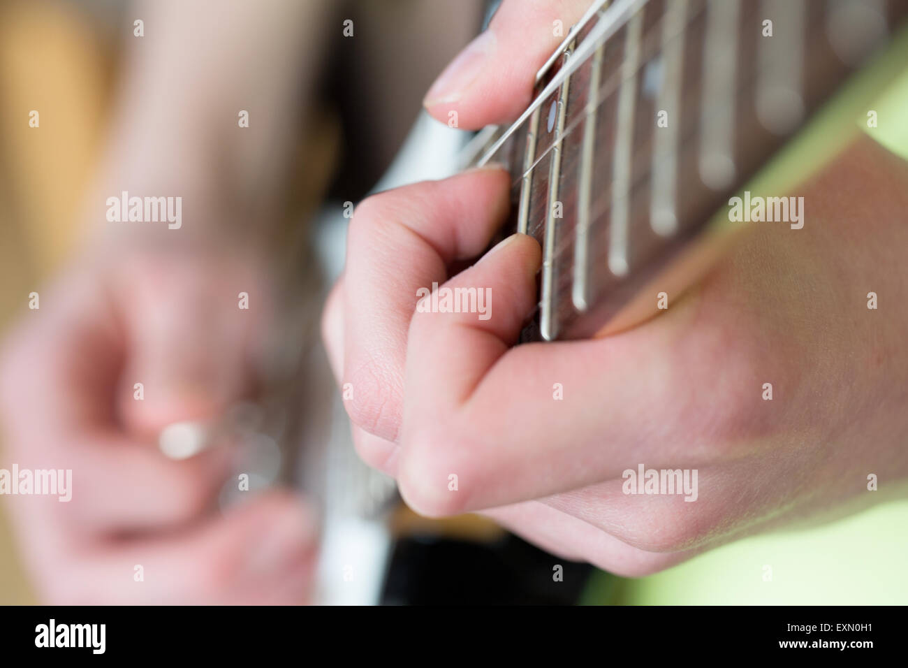 close-up-of-a-chord-being-played-on-a-el
