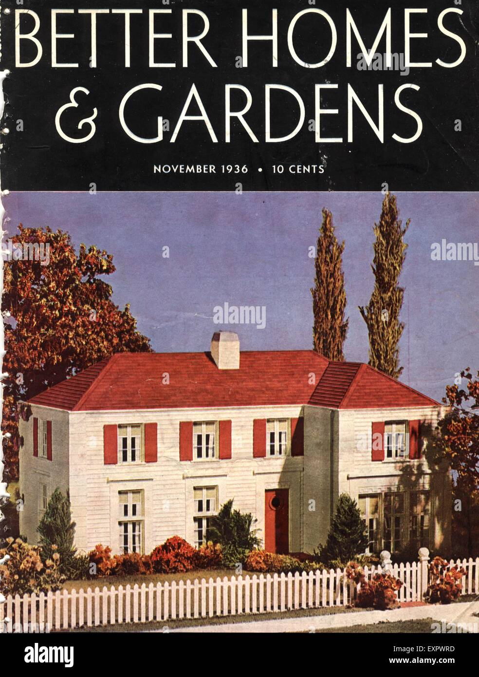 1930s Usa Better Homes And Gardens Magazine Cover Stock