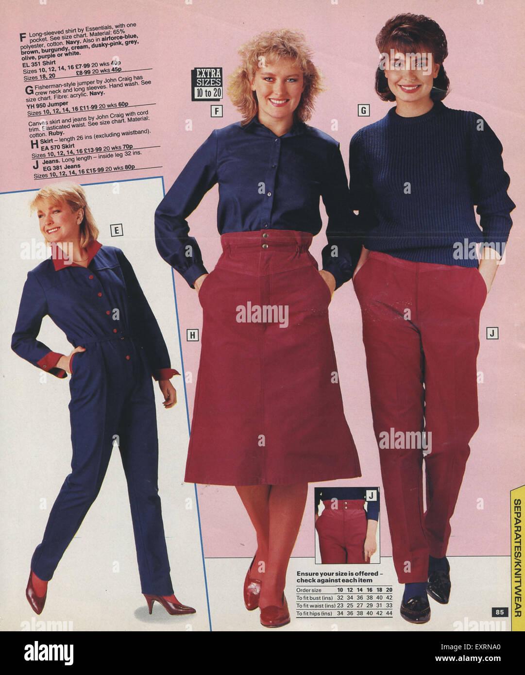 1980s uk brian mills catalogue brochure plate stock photo. Black Bedroom Furniture Sets. Home Design Ideas