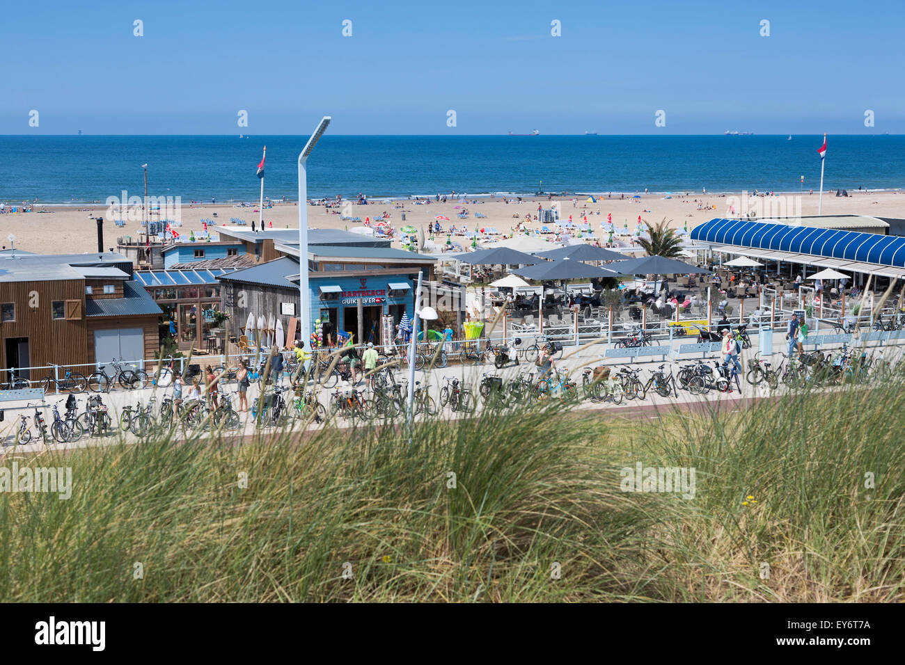 Beach And Dunes Of The Dutch Seaside Resort Of