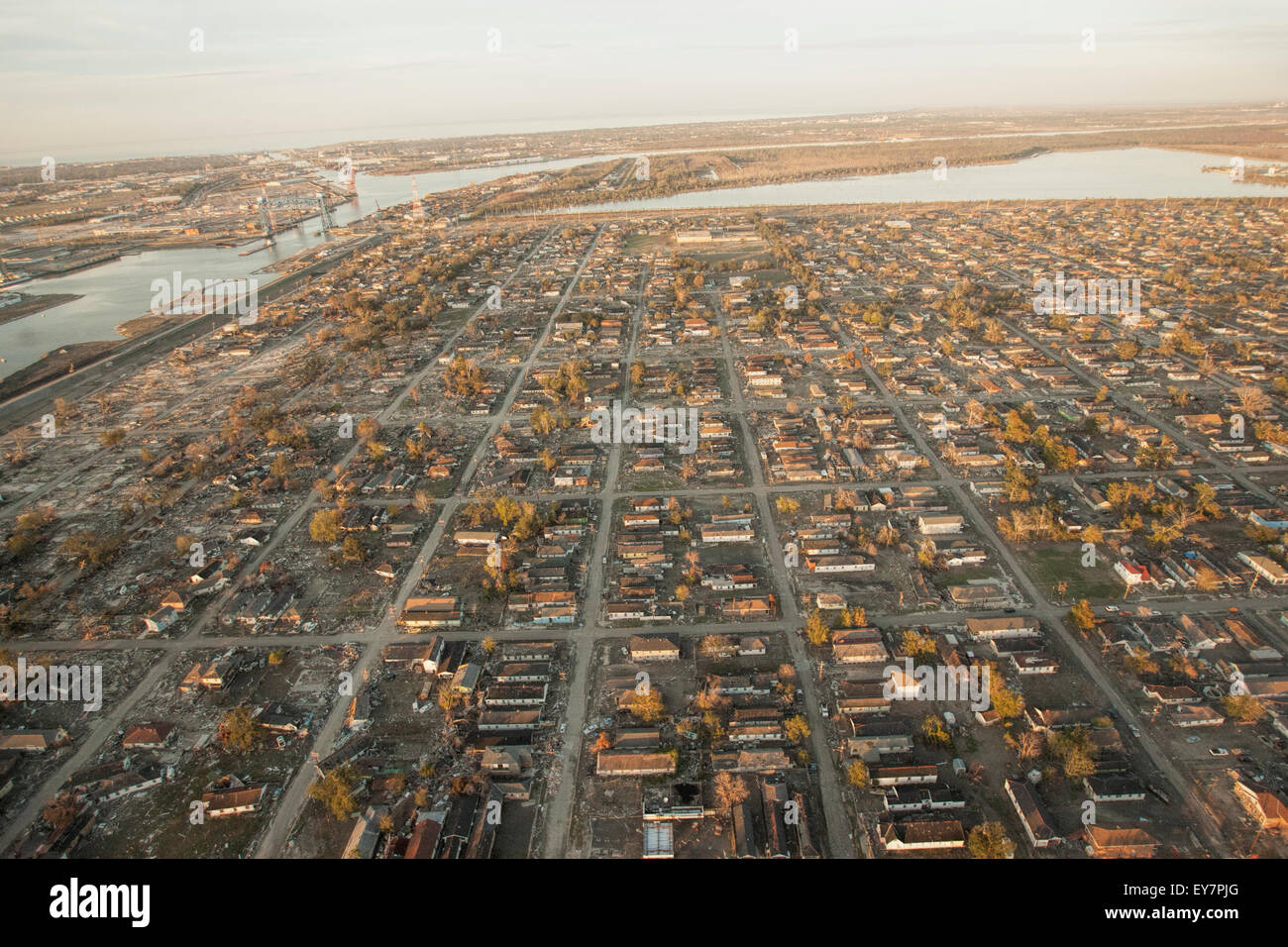 Aerial View Of Aftermath Of Hurricane Katrina In New ...