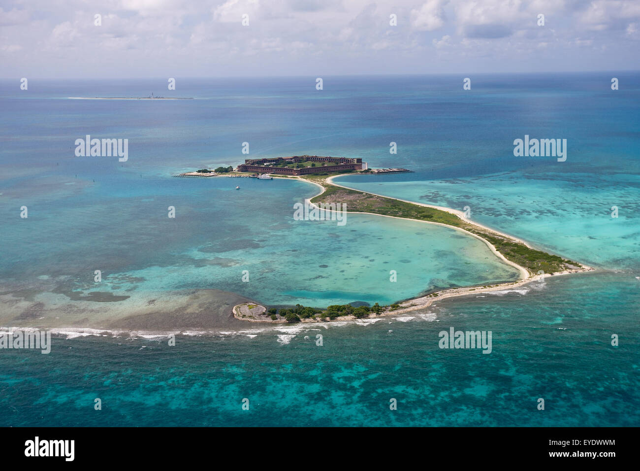 Aerial View Of Long Key Bush Key And Fort Jefferson On Garden Key Stock Photo Royalty Free