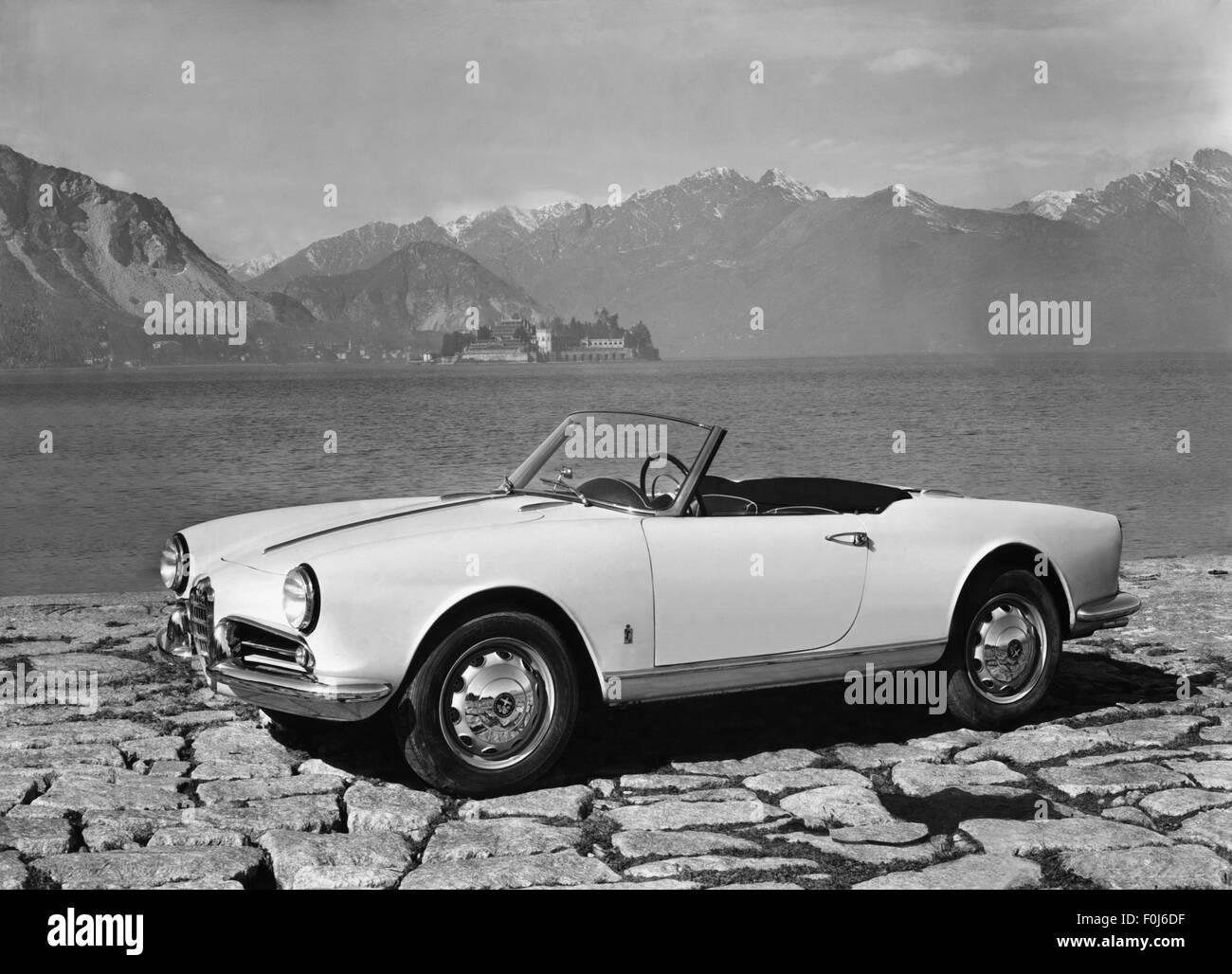 alfa romeo giulietta sprint cabrio 1950s stock photo royalty free image 86452059 alamy. Black Bedroom Furniture Sets. Home Design Ideas