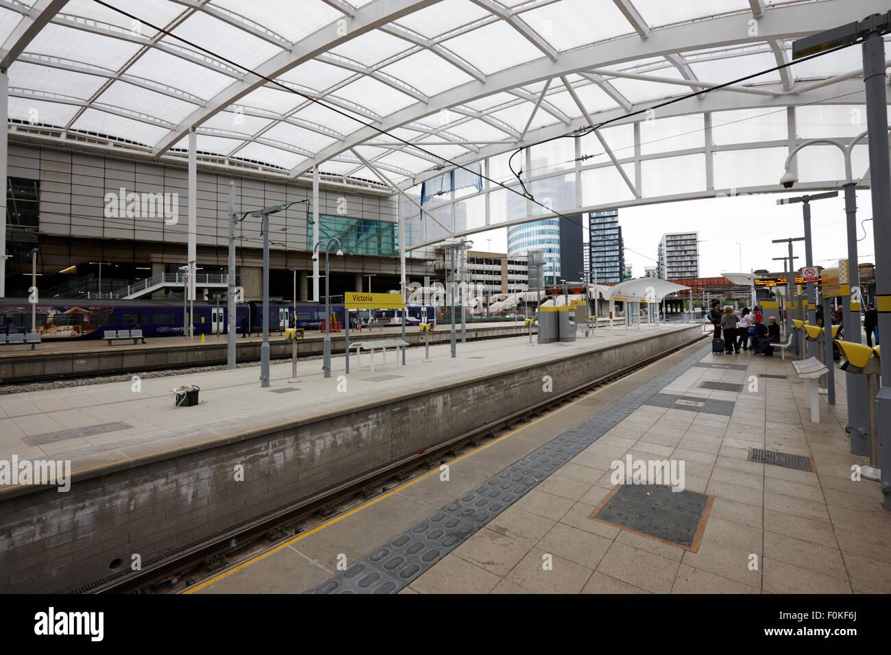 Manchester Victoria Railway Station Metrolink Platforms England UK Stock Photo Royalty Free ...