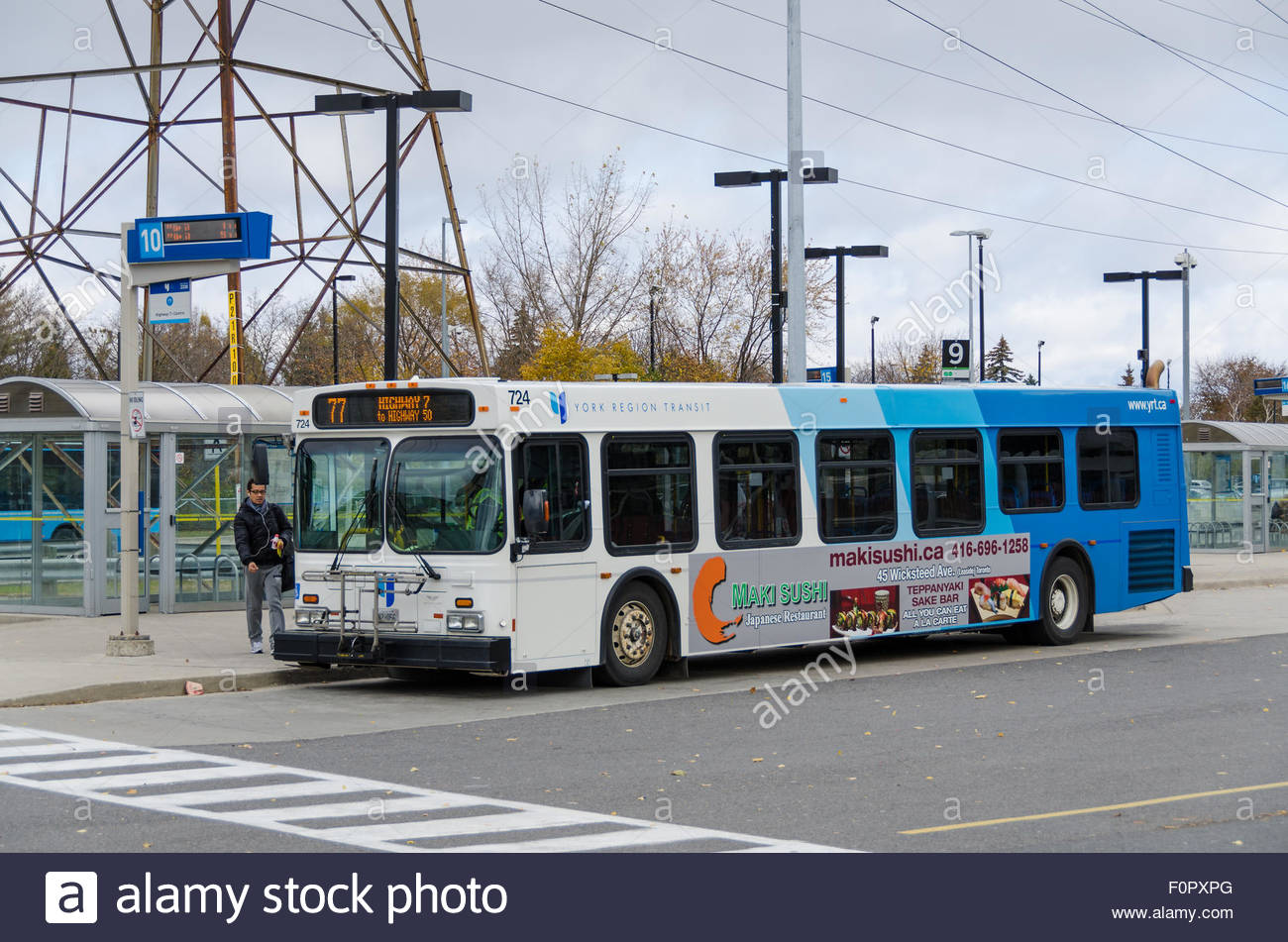 YRT or York Regional Transit bus in Finch Station. York ...