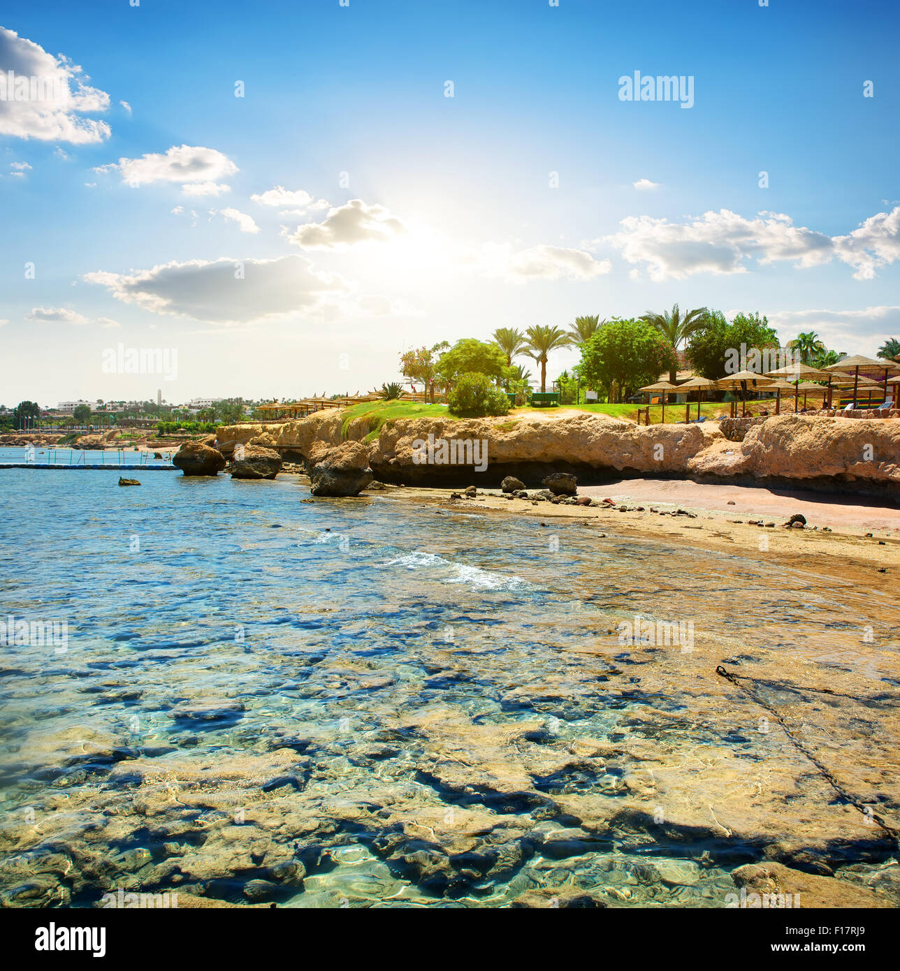 Coral Reefs On The Beach Near Hotel Stock Photo, Royalty