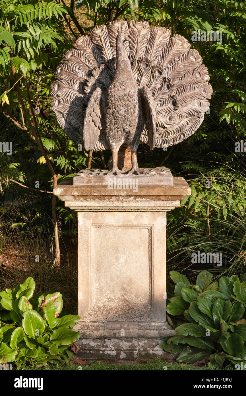 Powis castle gardens welshpool wales uk a statue of a for Castle gardens pool
