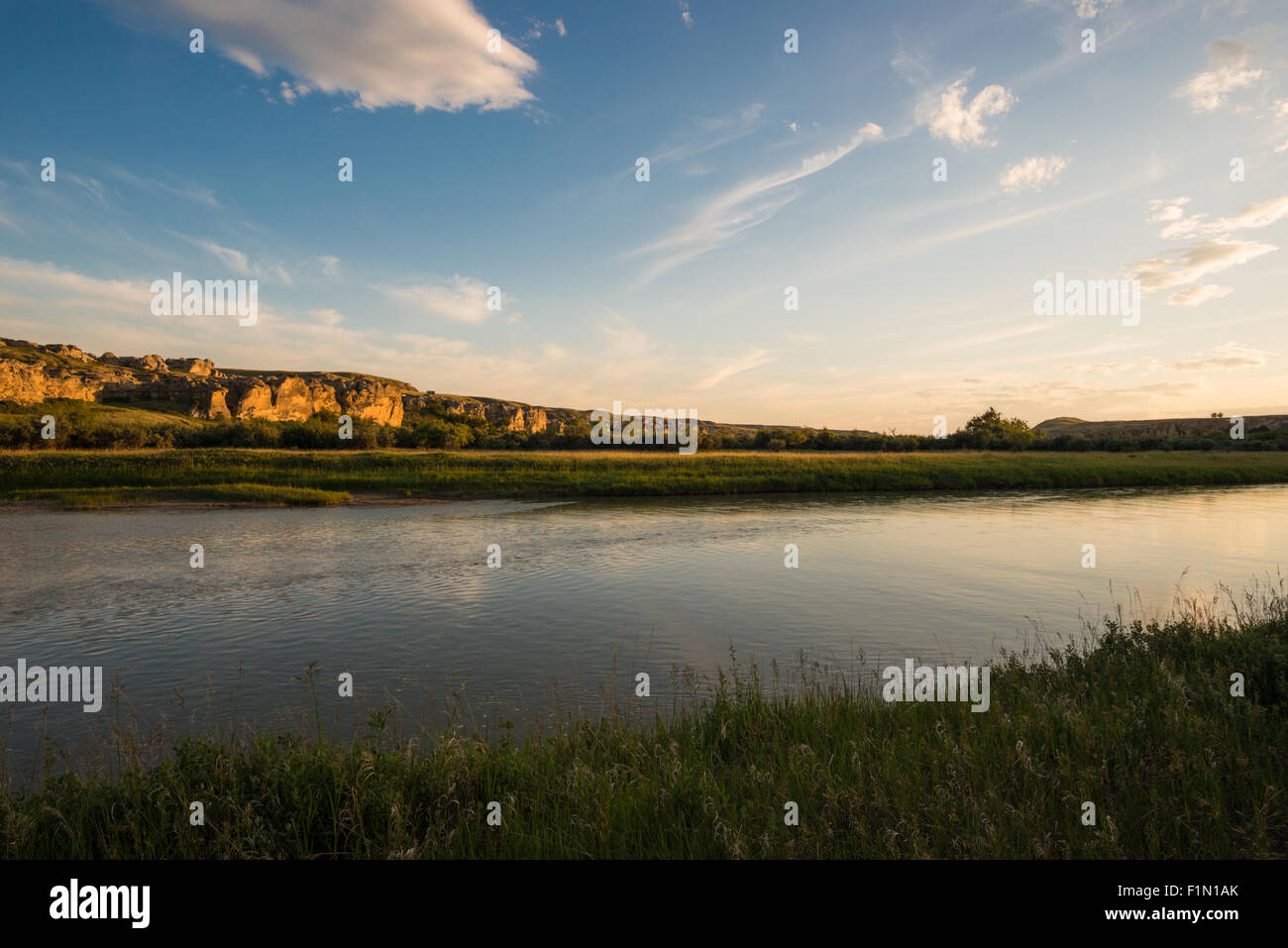 dusk-view-of-the-milk-river-flowing-thro
