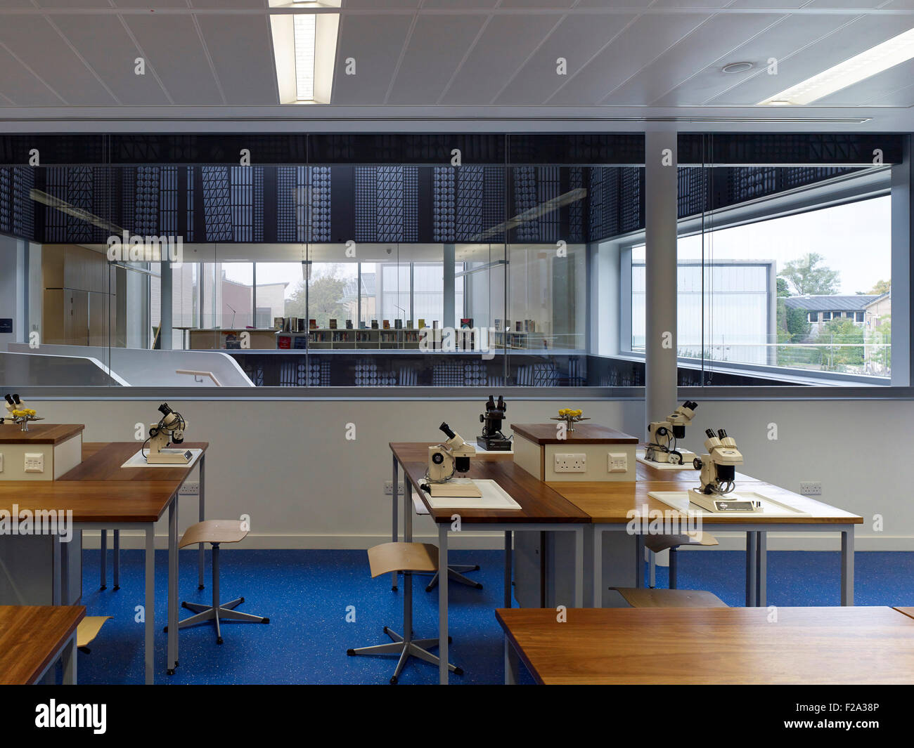 School Laboratory With Window Wall And View Through