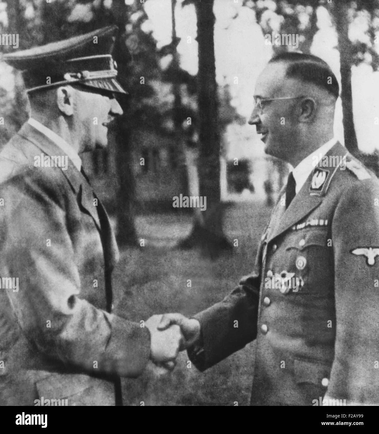 Heinrich Himmler, Shaking Hands With Adolf Hitler. Ca
