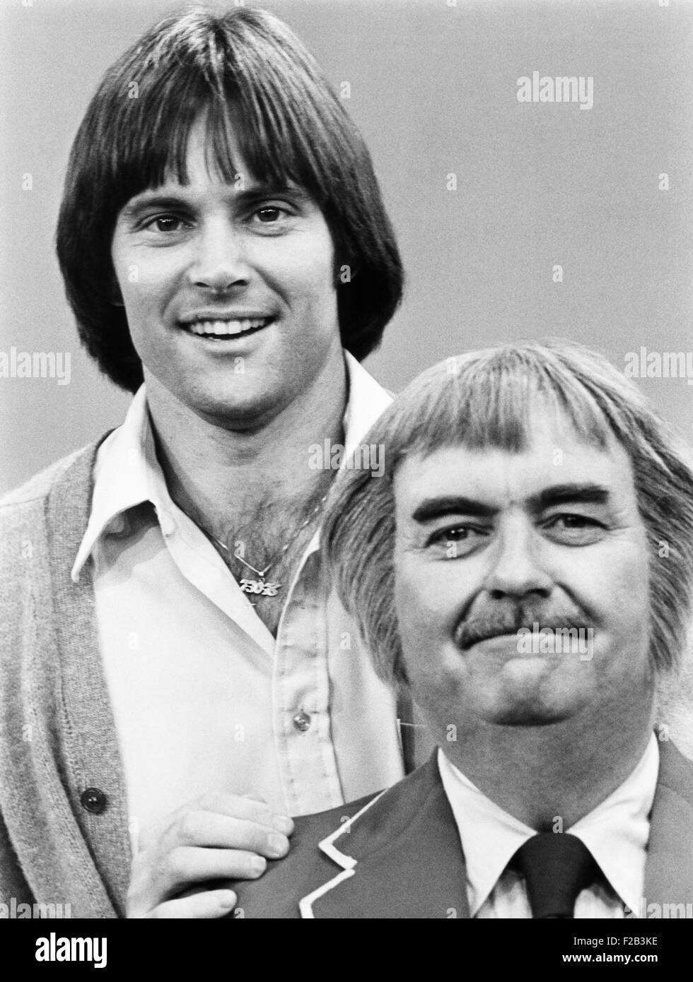 Bruce Jenner With Bob Keeshan In August 1978 Keeshan