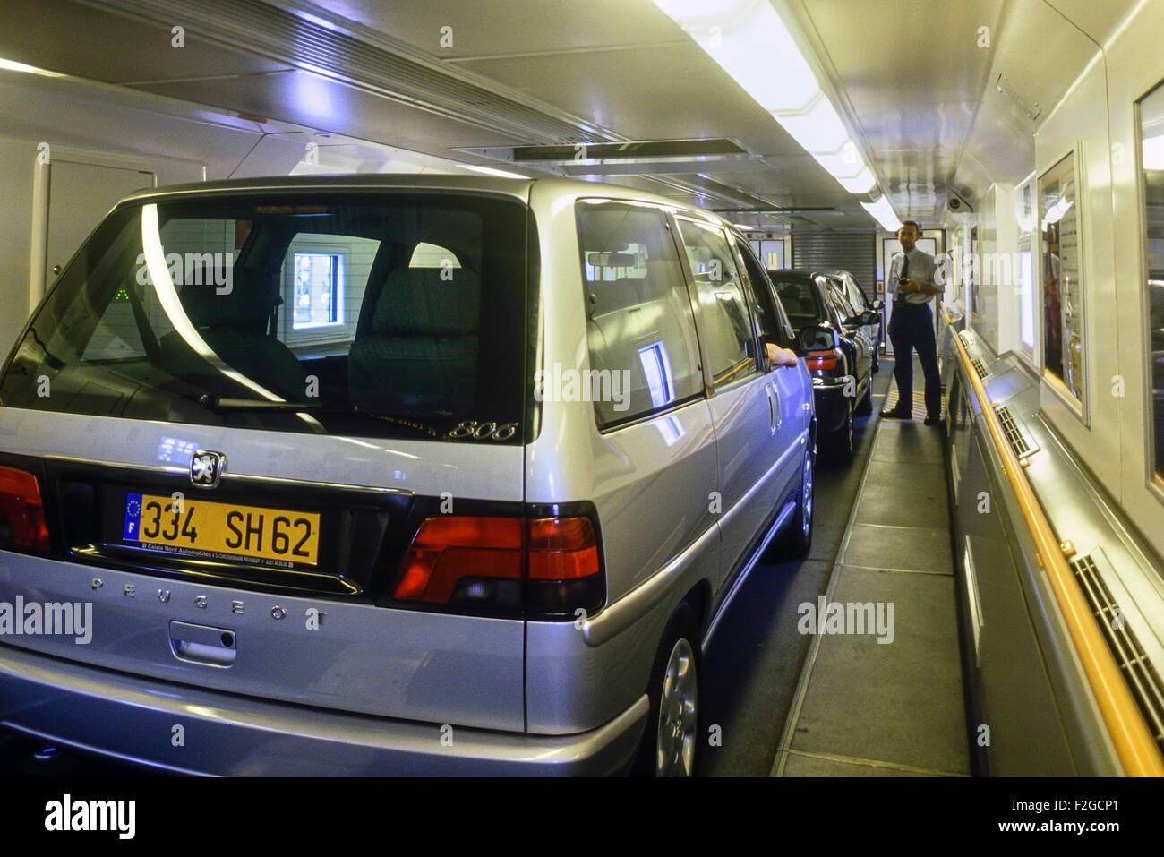 Dover Calais Tunnel >> Le Shuttle. Eurotunnel. France Stock Photo, Royalty Free ...