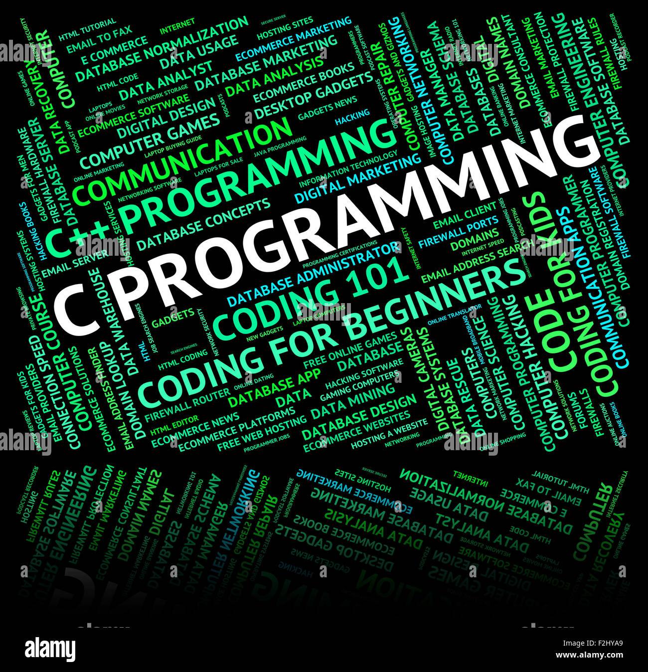 C Programming Showing Software Design And Programmer Stock