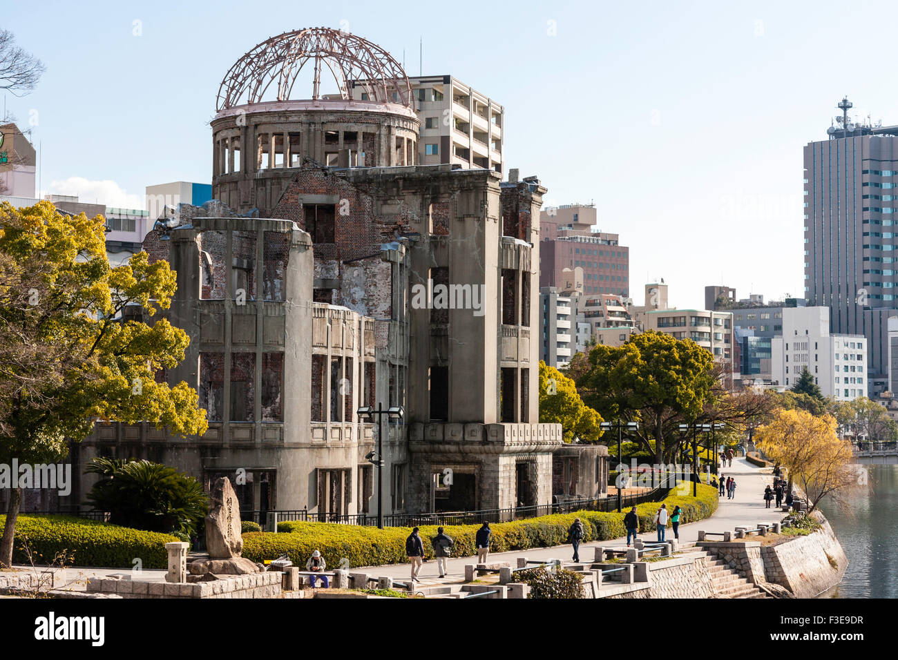 Hiroshima, Japan, A-bomb dome, ruined building near ground zero Stock Photo, ...