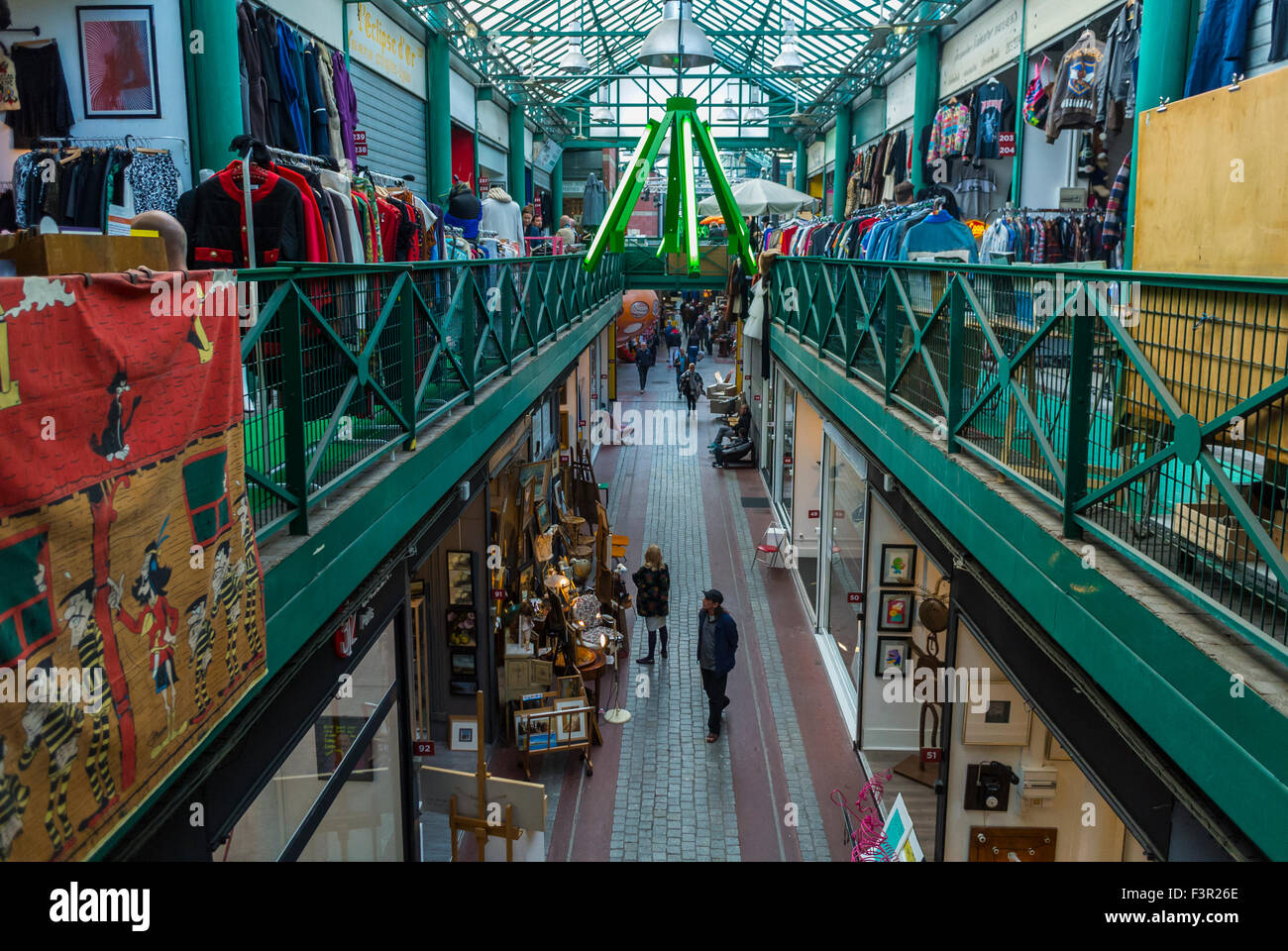 high angle view shop front in flea market stock photo royalty free image