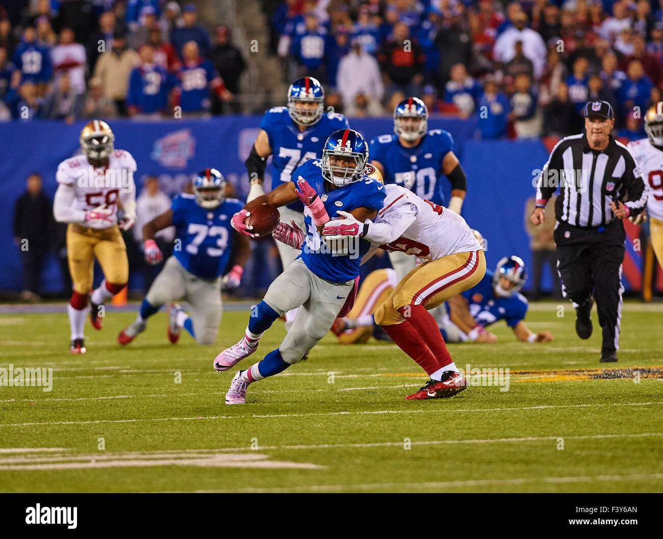 Giants' running back Shane Vereen (34) in the first half ...