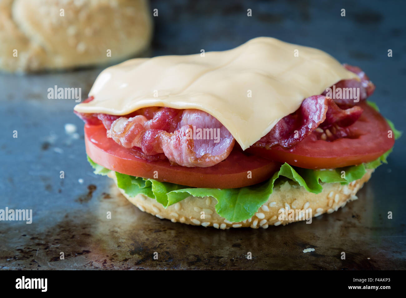 bacon and egg sandwich Stock Photo, Royalty Free Image ...