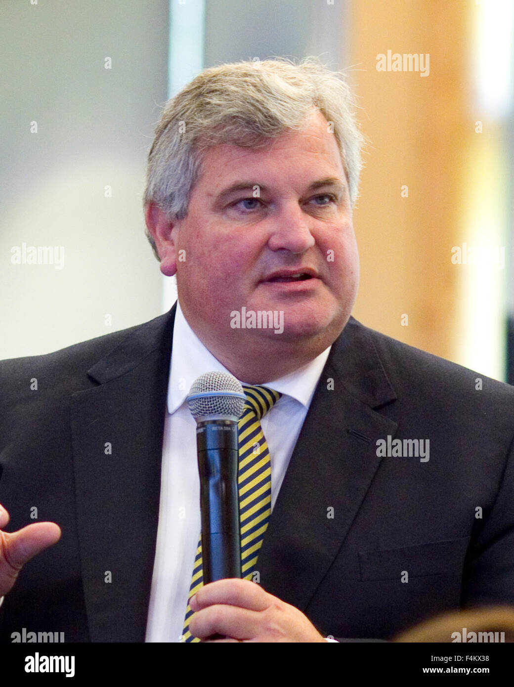 FILE PICS: Odney, Cookham, Berkshire, UK. 1st October, 2015. Ex-Managing Director of waitrose Mark price speaking Stock Photo