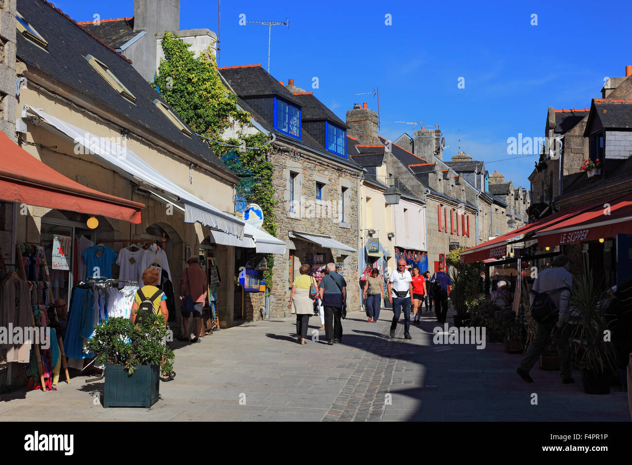 France brittany concarneau in the historic old town - Point p concarneau ...