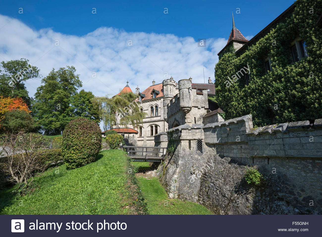 germany baden wuerttemberg reutlingen lichtenstein castle stock photo royalty free image. Black Bedroom Furniture Sets. Home Design Ideas