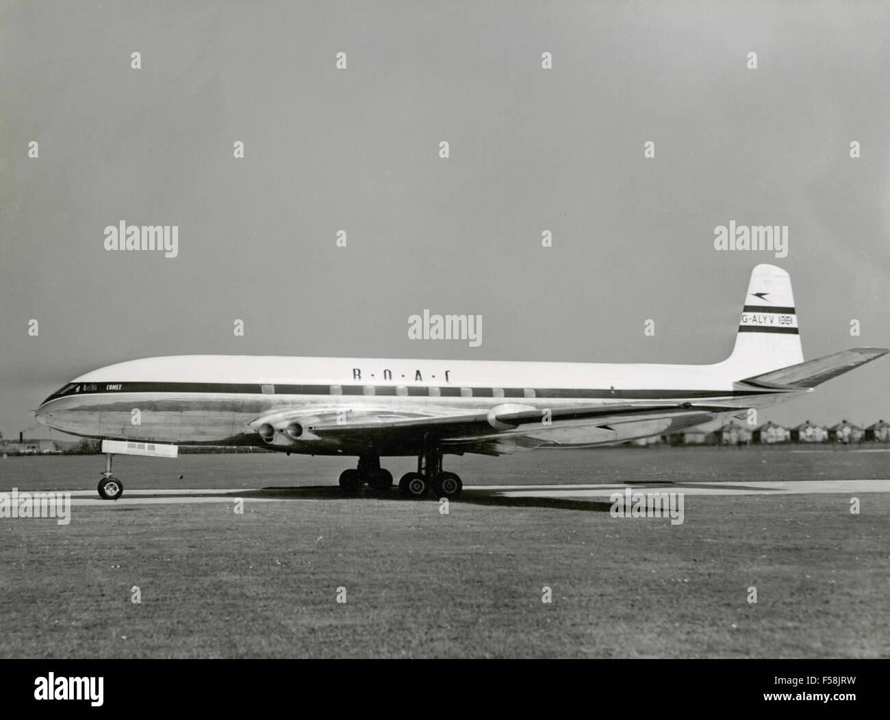 The aircraft De Havilland Comet 1 G-BOAC ALYX