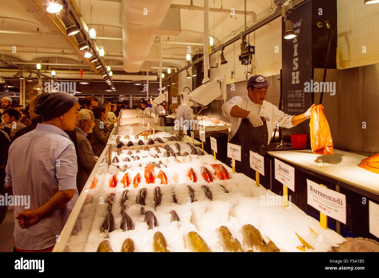 The lobster place seafood market or fishmongers chelsea for Fish market nyc