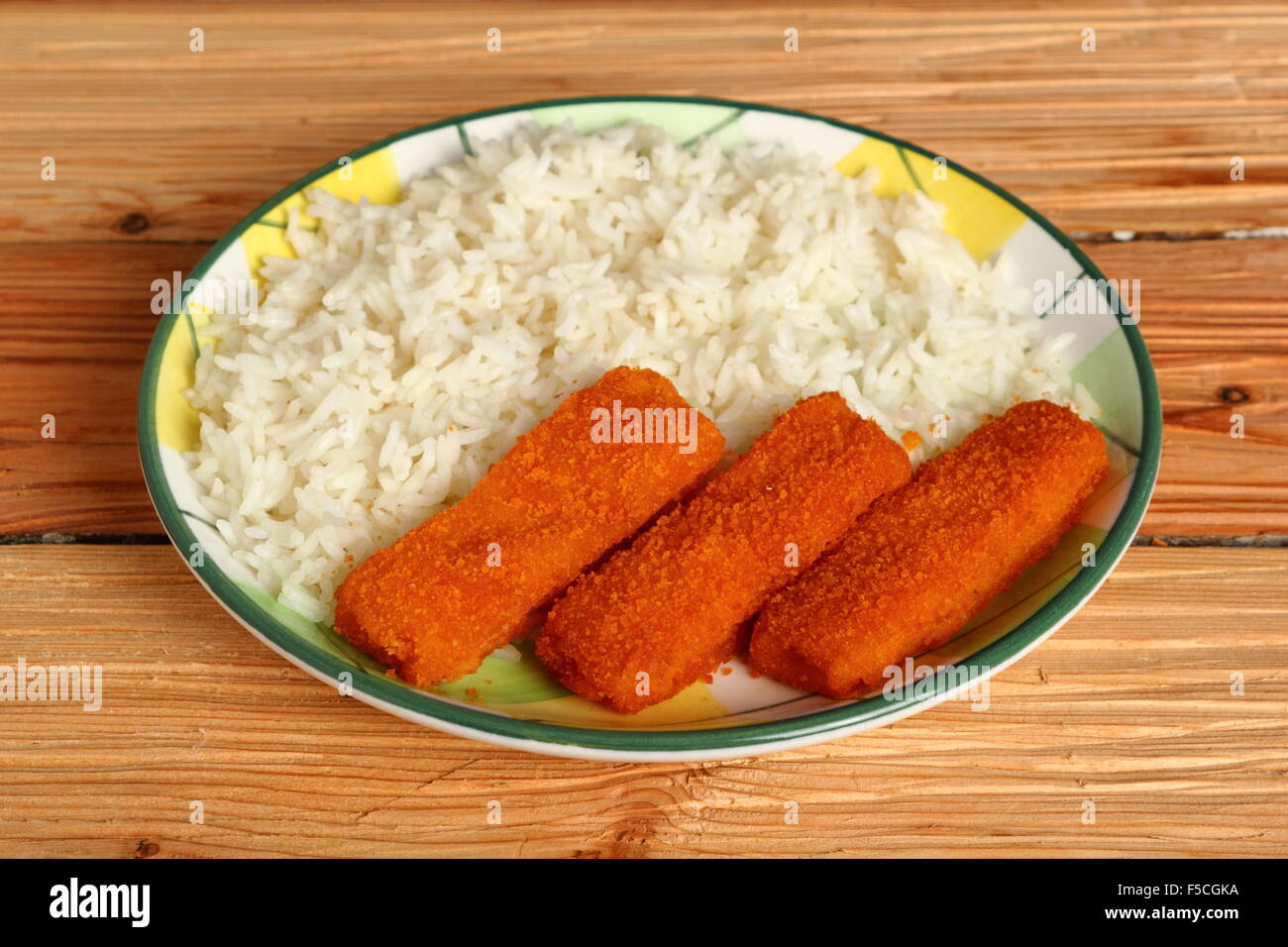 Stock Photo Rice And Fish Fingers 89401630 on My Lunch Plate