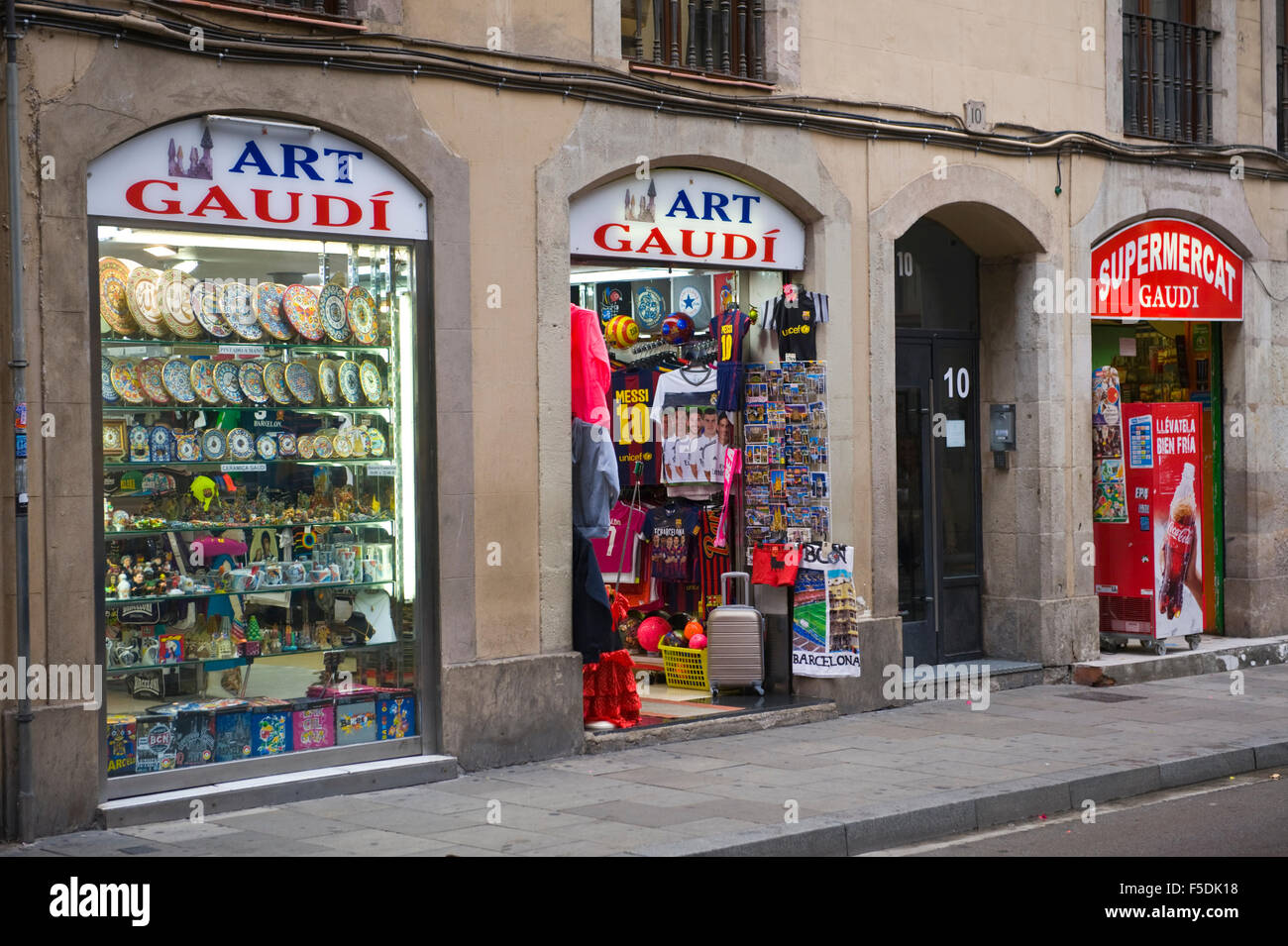 gaudi souvenir shops in barcelona catalonia spain es stock photo royalty free image 89425428. Black Bedroom Furniture Sets. Home Design Ideas