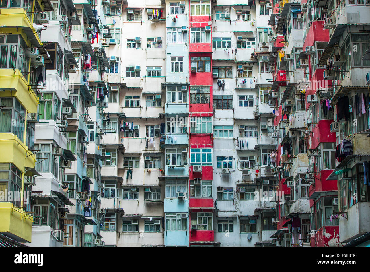High Density Apartment Block Hong Kong China Asia Stock Photo Royalty Free Image 89441767