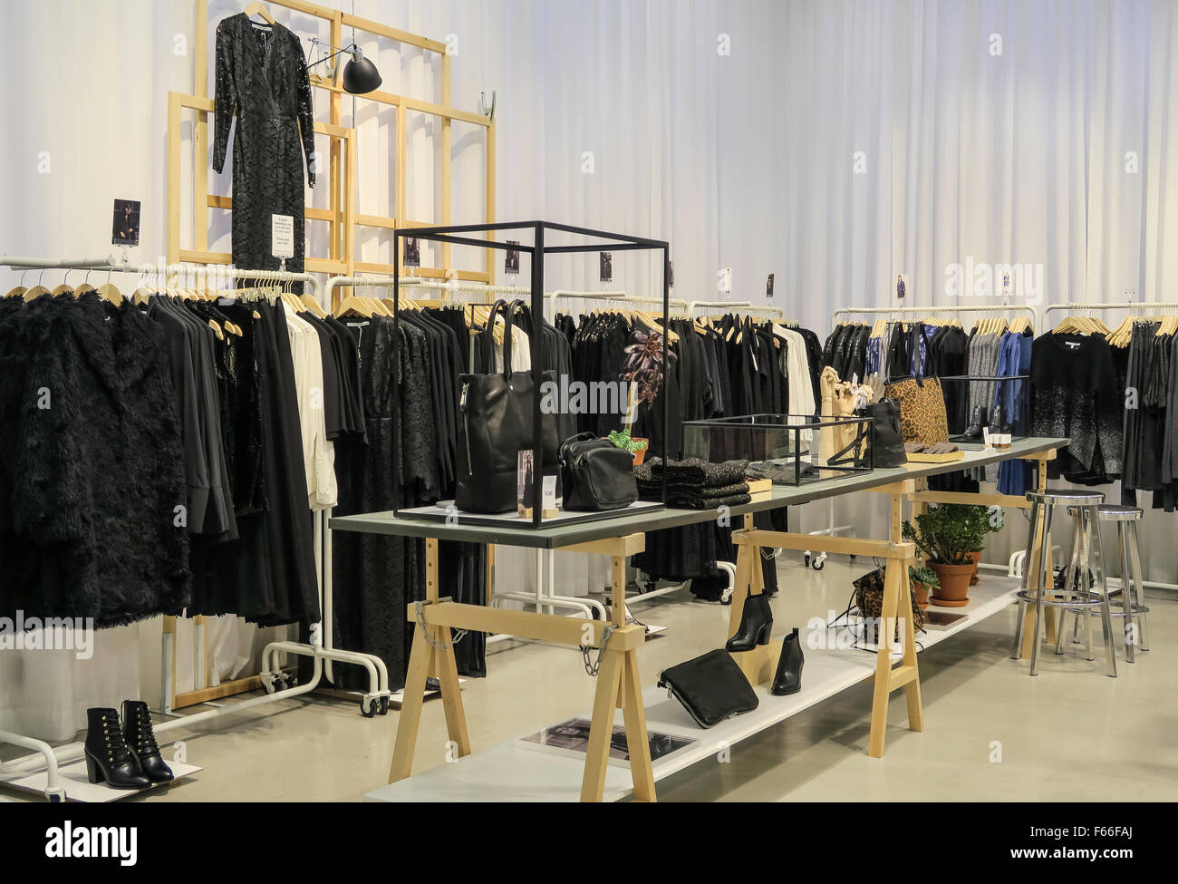 other stories store interior on fifth avenue nyc stock. Black Bedroom Furniture Sets. Home Design Ideas