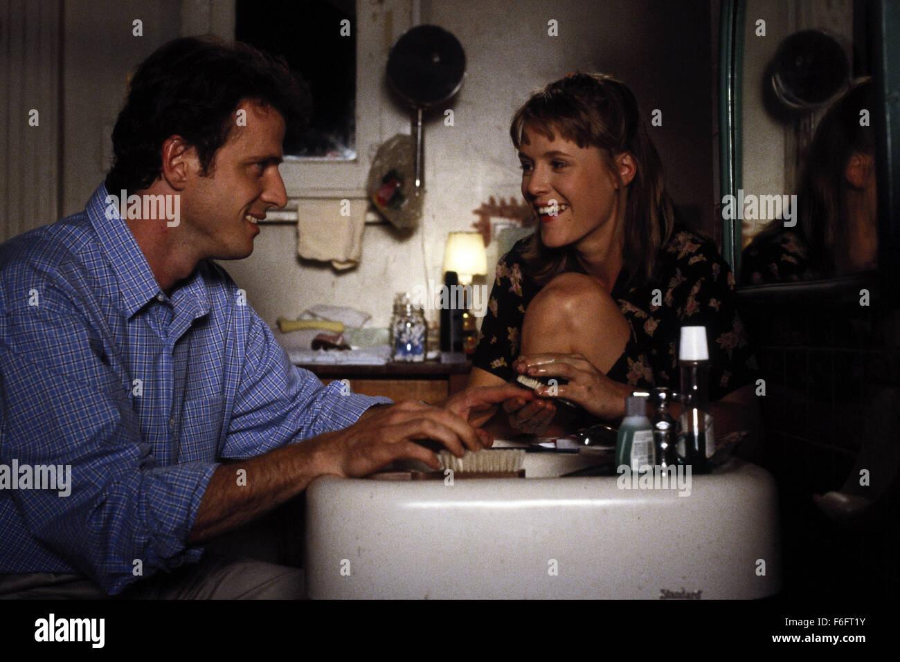 Apr 16, 1993; Spokane, WA, USA; AIDAN QUINN as Benjamin 'Benny' Pearl and MARY STUART MASTERSON as Juniper 'Joon' Stock Photo