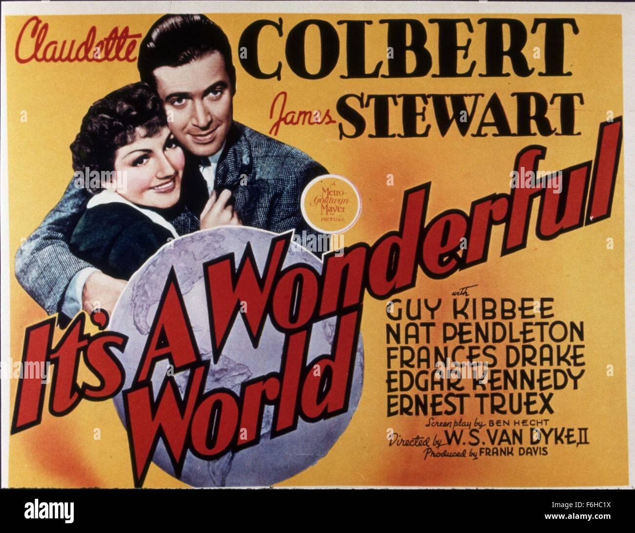 1939 Film Title It 39 S A Wonderful World Director W S Van Dyke Stock Photo Royalty Free Image