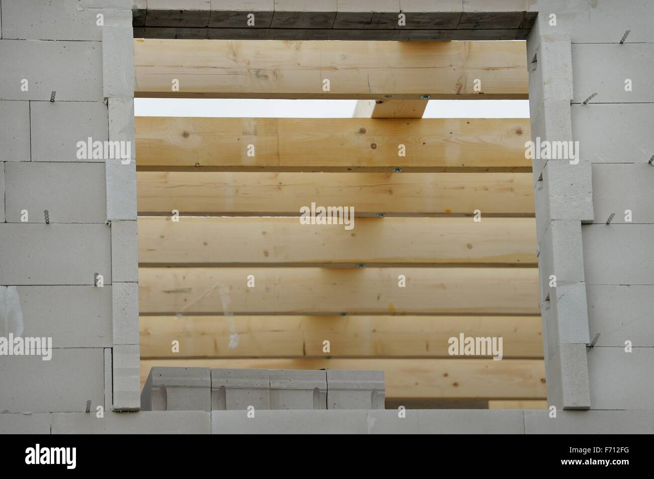 construction area for a private house germany near the city of stock photo royalty free image. Black Bedroom Furniture Sets. Home Design Ideas