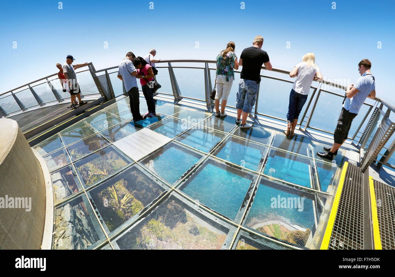 Panoramic terrace with glass floor at the top of cabo for Glass deck floor