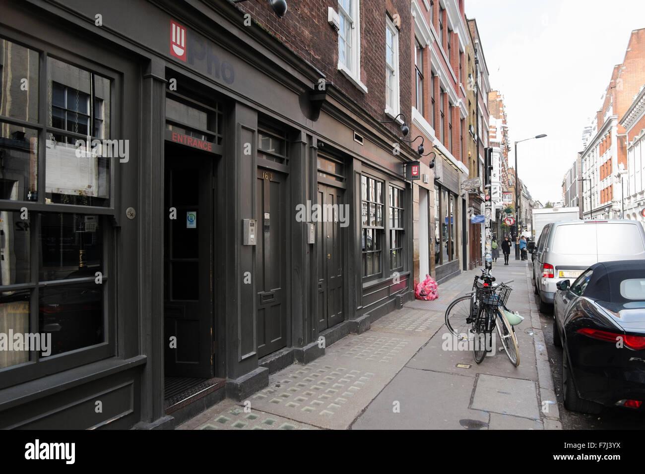 Stock Photo - Pho Vietnamese street food restaurant in Wardour Street, Soho,London, England, UK