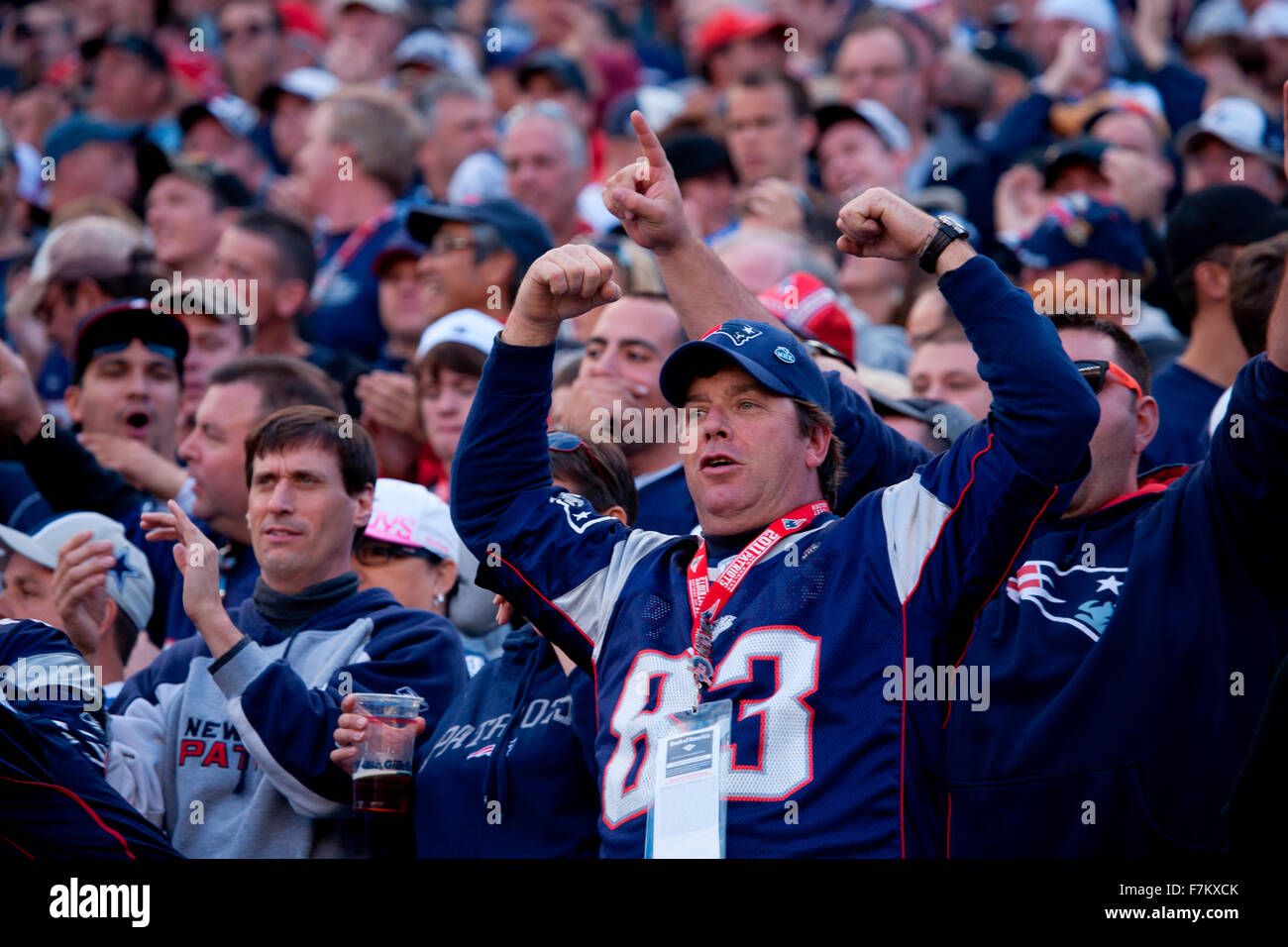 New England Patriots NFL Football fans at Gillette Stadium ...