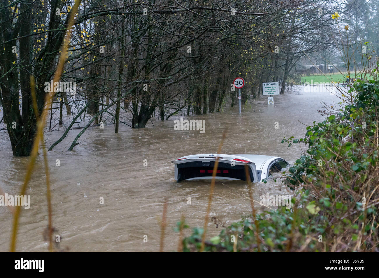 car in flood water stock photo royalty free image 91100333 alamy. Black Bedroom Furniture Sets. Home Design Ideas
