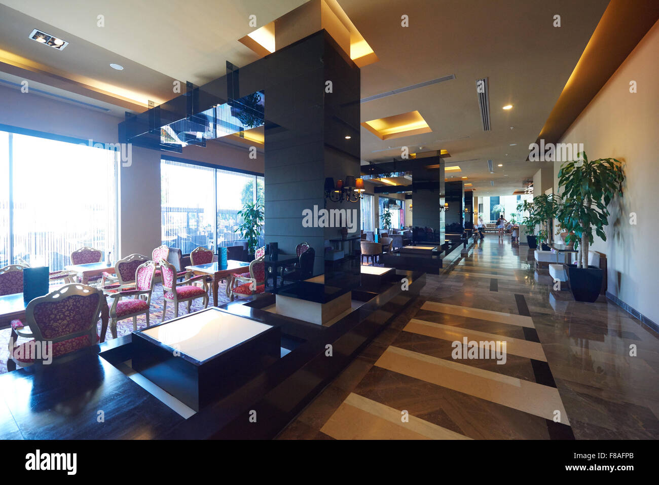 Luxury business hotel lobby interior with modern design for Business hotel design