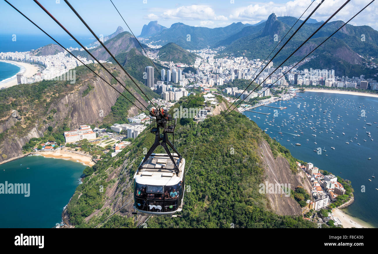 Cable Automotive Oklahoma City : Aerial view of rio with corcovado mountain botofago bay