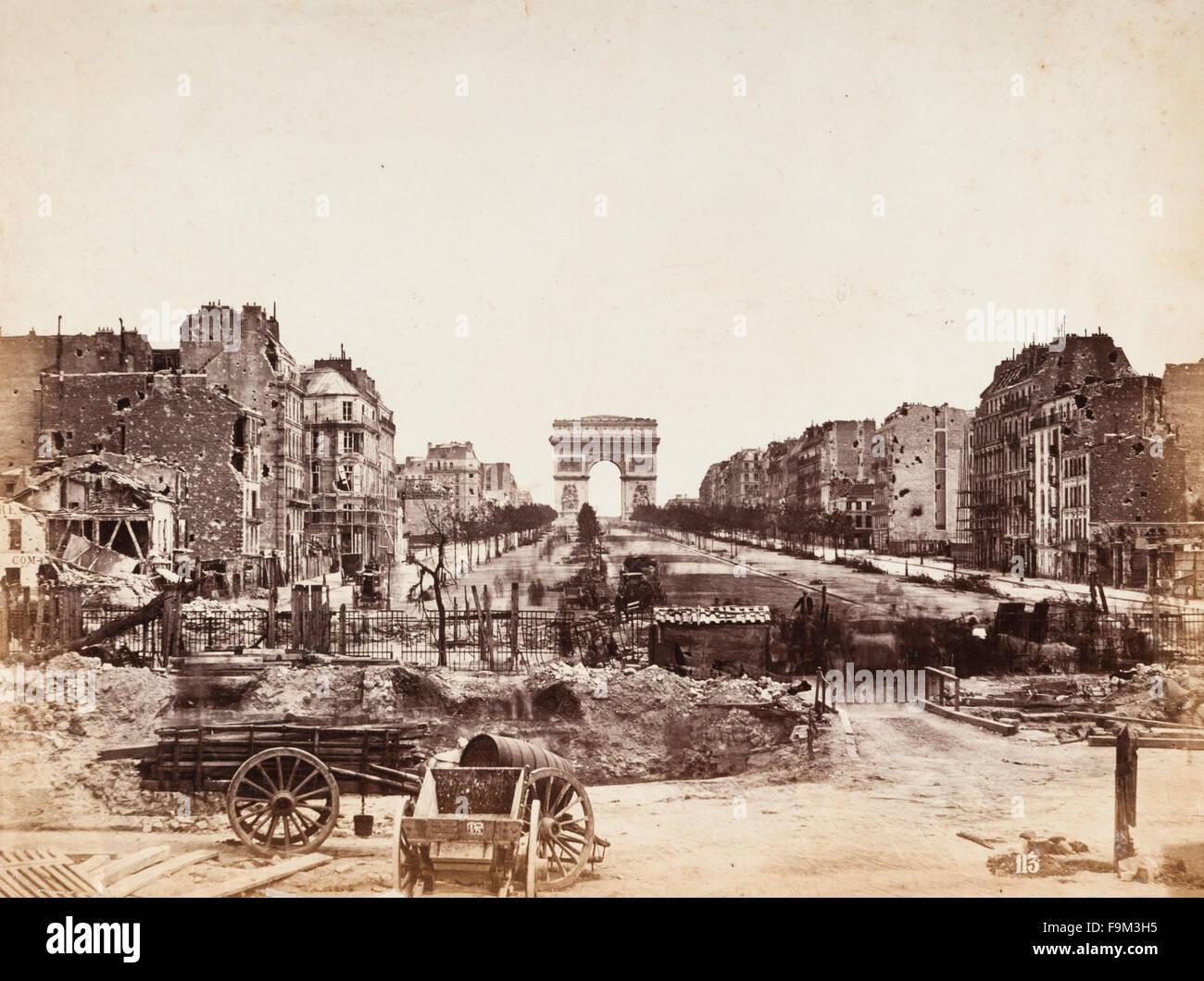 paris france after the franco prussian war of 1870 the avenue des stock photo royalty free. Black Bedroom Furniture Sets. Home Design Ideas