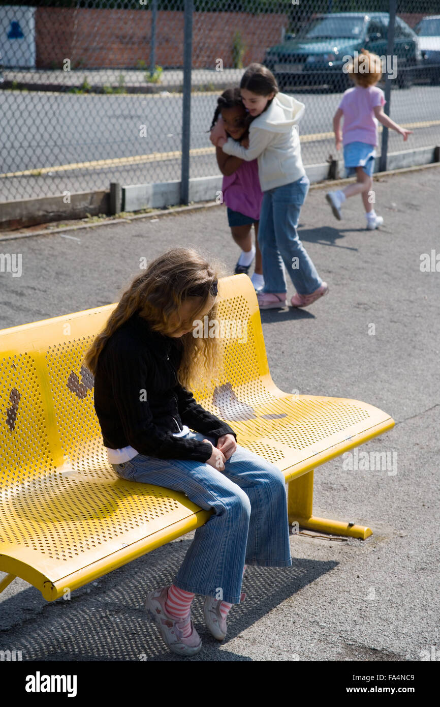 Girl Sitting Alone On Bench Girl sitting alone on ...
