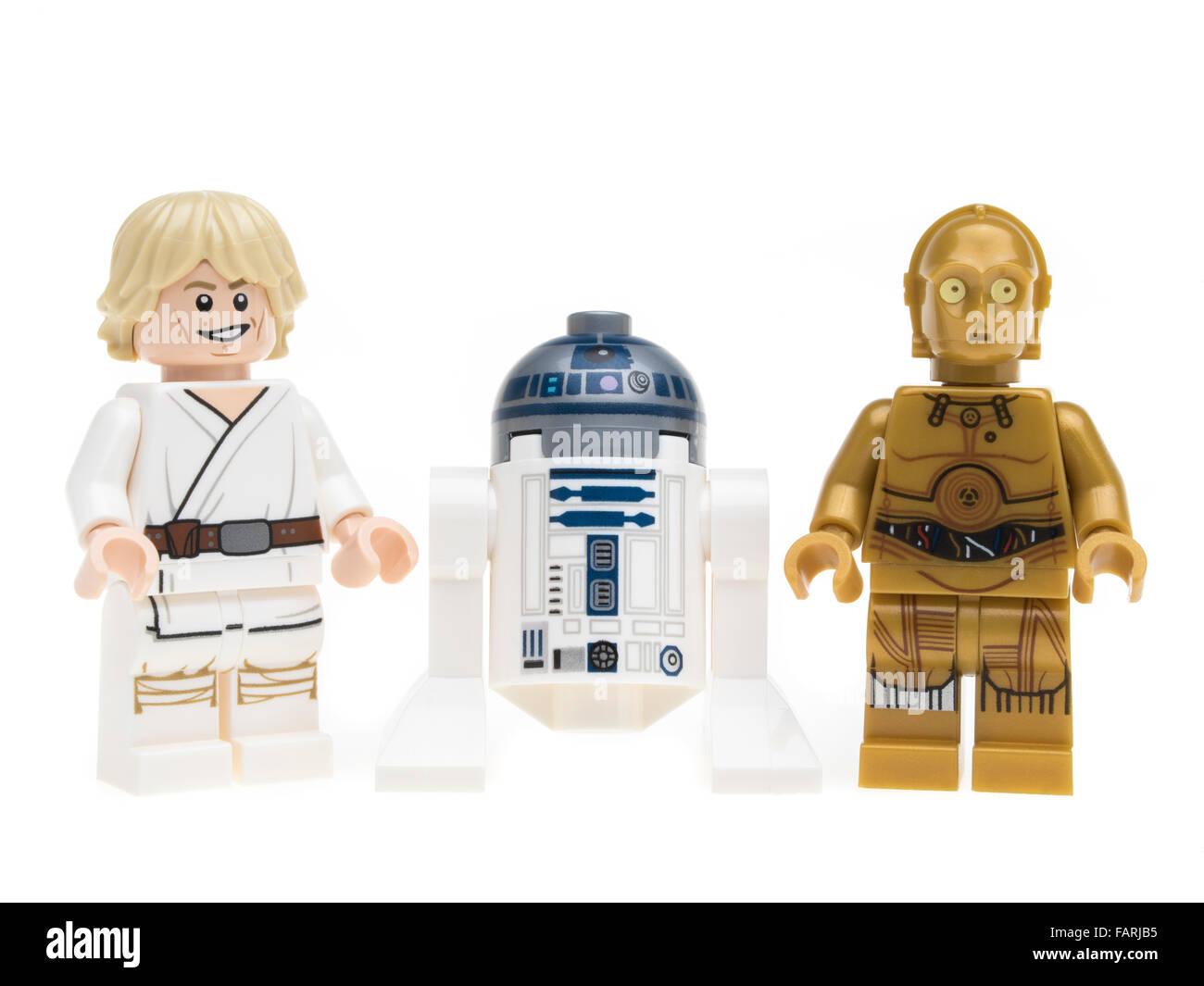 Lego Star Wars Luke Skywalker R2-D2 C-3P0 Minifigure Stock