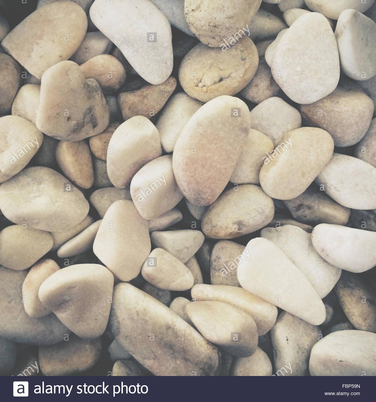 Full Frame Shot Of Pebbles Stock Foto