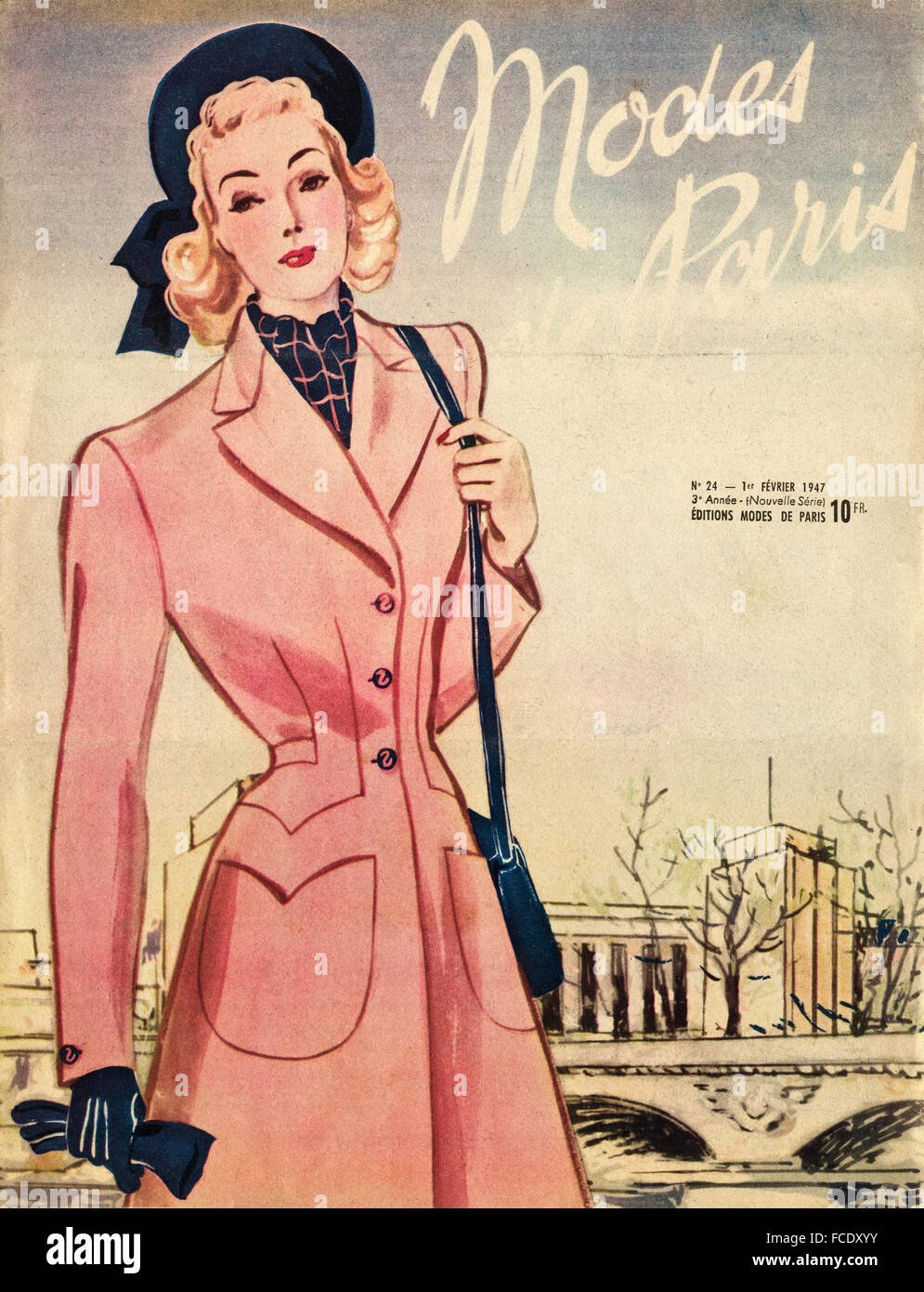 cover of original vintage french fashion magazine modes de. Black Bedroom Furniture Sets. Home Design Ideas